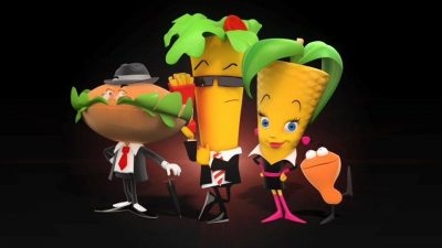 Personnages dessins animés KFC