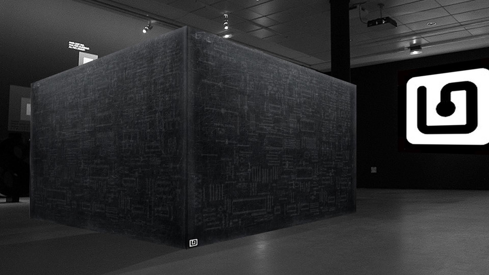 Exposition cube art numérique Walking Man Data