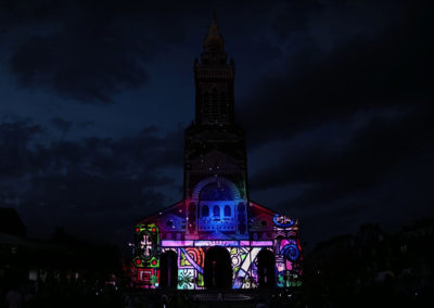 Video Mapping Festival #1 – LA BASILIQUE, ALBERT / FRANCE – Façade