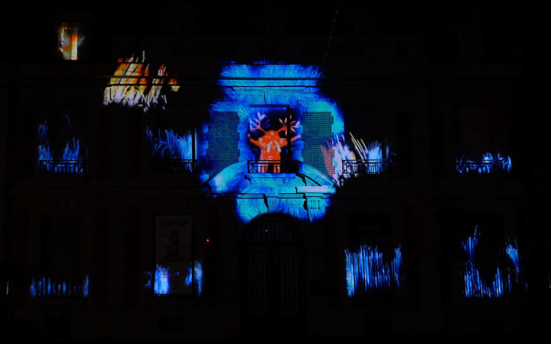 Video Mapping Festival #1 – LA BANQUE, BETHUNE / FRANCE – Façade