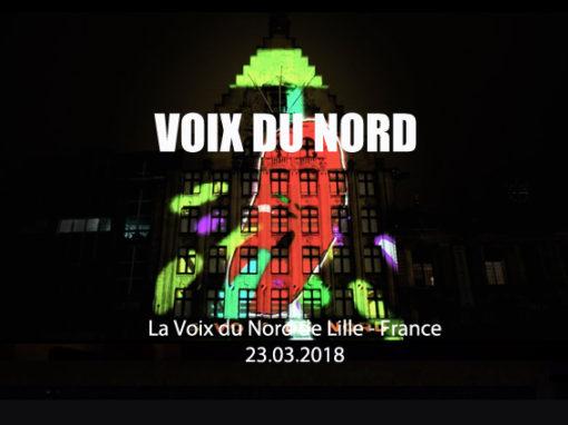 Mapping Monumental – LA VOIX DU NORD de Lille – Mars 2018