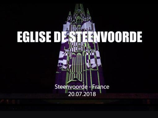 Mapping Monumental – Église de Steenvoorde – Juillet 2018