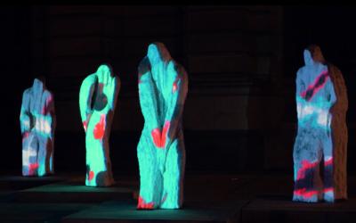 Mapping Objet – Statues Eugène Dodeigne du palais des Beaux Arts de Lille – 2019