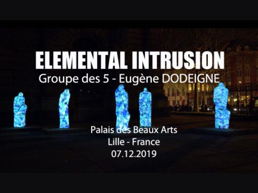 Mapping Objet – Statues Eugène Dodeigne du palais des Beaux Arts de Lille – Mars 2019