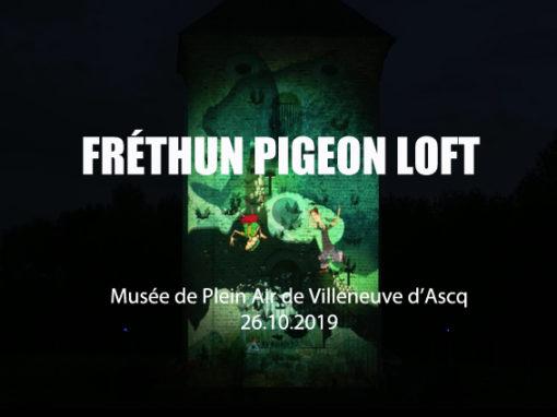 Mapping Monumental – Pigeonnier – Musée Plein Air de Villeneuve d'Ascq – Octobre 2019