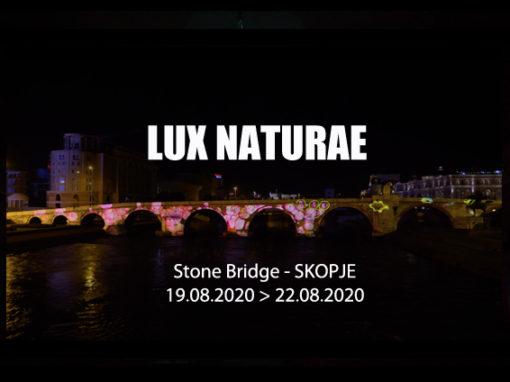 Mapping – Skopje Light Art District 2020 – Stone Bridge